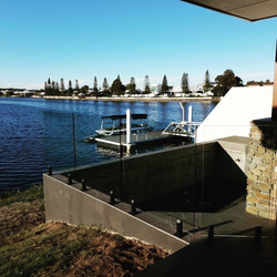 Pelican Waters Glass Fence see theu clea
