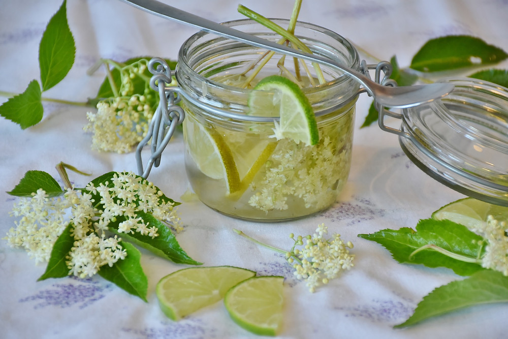 Elderflower homemade syrup