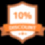 10% Discount Orange