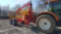 forwarder trailer, Rabaud Xylotrail forwarder, forestry trailer, timber trailer