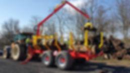 Rabaud Xylotrail 15 forwarding trailer