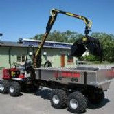 Alstor tipping body, mini forwarde tipping trailer, low ground pressure dumper, self loading dumper