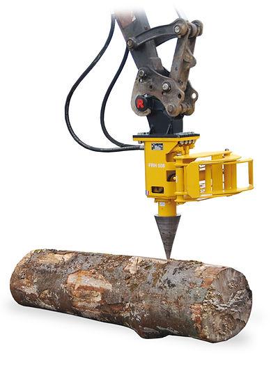 Rabaud cone splitter, cone splitter, excavtor log splitter