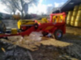 log splitter, Rabaud F80 log splitter, monster log splitter, big log splitter, tractor log splitter