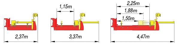 Rabaud horizontal log splitter, log splitter, cleaving splitter, cleft stakes, cleft fencing