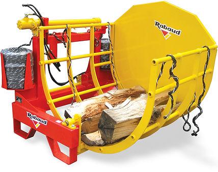 Rabaud billet bundler, log bundler, firewood billet, biomas