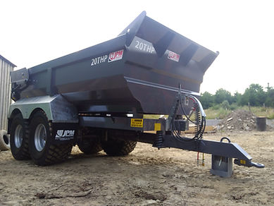 JPM 20 tonne half pipe dump trailer