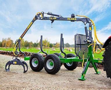 farma CT3.8-6 forwarding trailer, forwarder, trctor forwarder