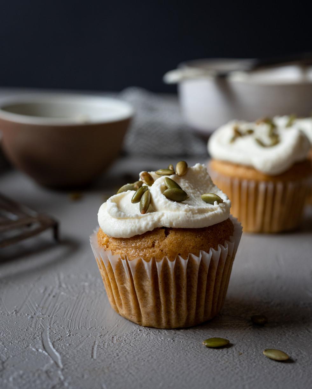 Mascarpone topped Muffin