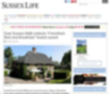 Sussex Life feature of Knelle Dower Studio Bed and Breakfast