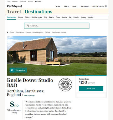 The Telegraph review of Knelle Dower Studio B&B