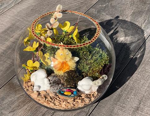 Tischgesteck Glas