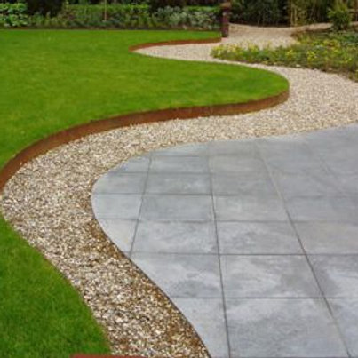 100mm Galvanised Garden Edging