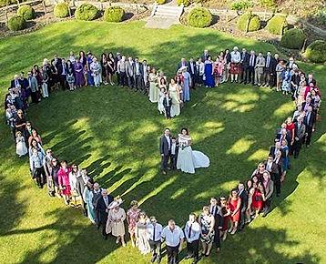 Vue drone mariage