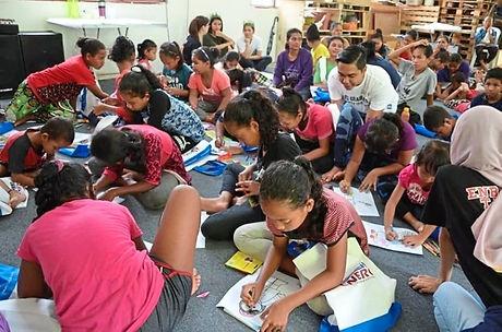 Pupils attend after school programme.jpg