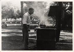 Grilling in Memorial Park