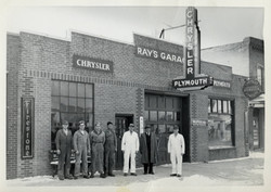 1947, Ray Mahowald's Automobile Garage, New Prague, Minnesota