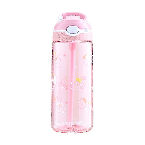 Contigo Ashland Water Bottle w/lock (Tritan) 20oz (590ml) - Pink w/ Strawberry P