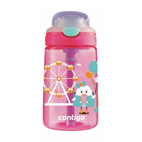 Contigo Gizmo Autospout Kids Bottle (PP) 14oz (410ml) - Farris Wheel Chick