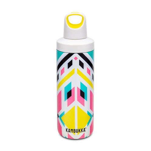 Kambukka Reno Insulated Water Bottle (SS) 17oz (500ml) - Yellow - Tribal Shibori