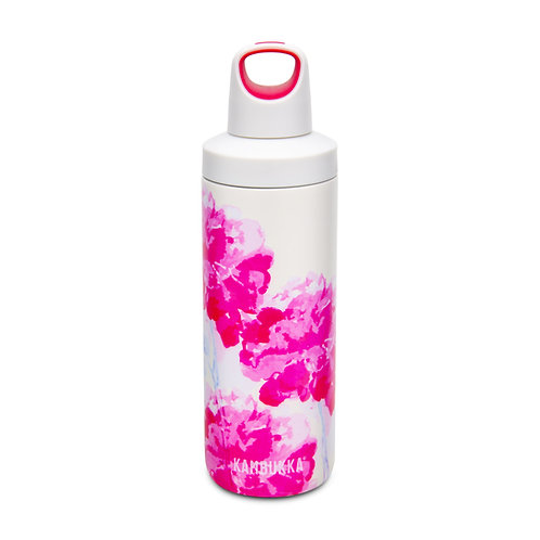 Kambukka Reno Insulated Water Bottle (SS) 17oz (500ml)-Peach Puff - Pink Blossom