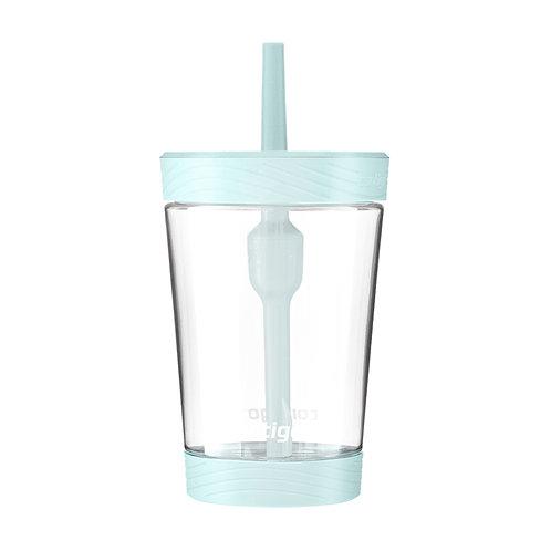 Contigo Spill Proof Tumbler (Tritan) 14oz (414ml) - Clear Body w/ Grey Jade Lid