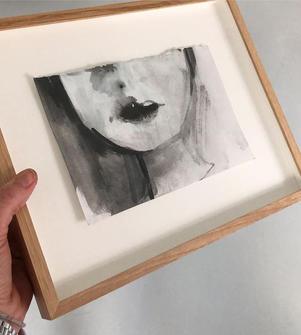 Framed drawing_30x25cm__#ink #artonpaper