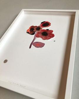 Aquarelle, pastel&ink flowers #papercut