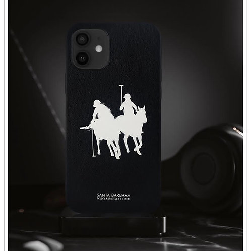 Luxury Santa Barbara Polo Jockey Umbra Series Leather Case for iPhone