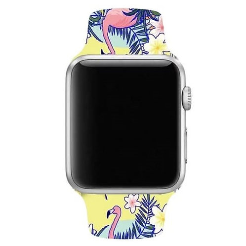 Soft Silicone Designer Premium Printed Double Pin Buckle Strap Band
