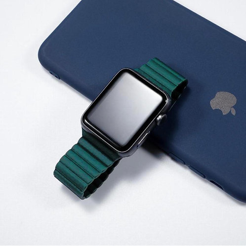 Coteetci Magnetic Closure Leather Loop Strap for Apple Watch