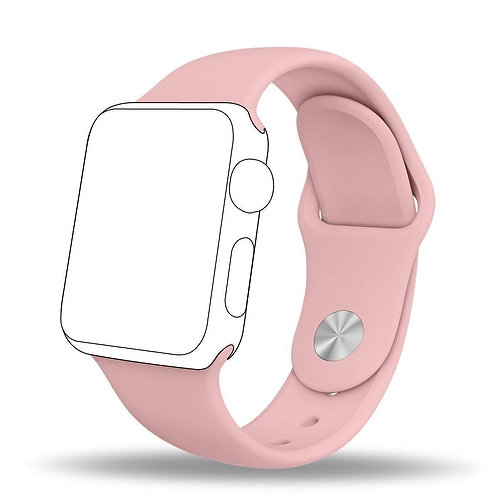 Soft Silicone Strap Band Compatible with iWatch Series 1/2/3/4/5/6/SE