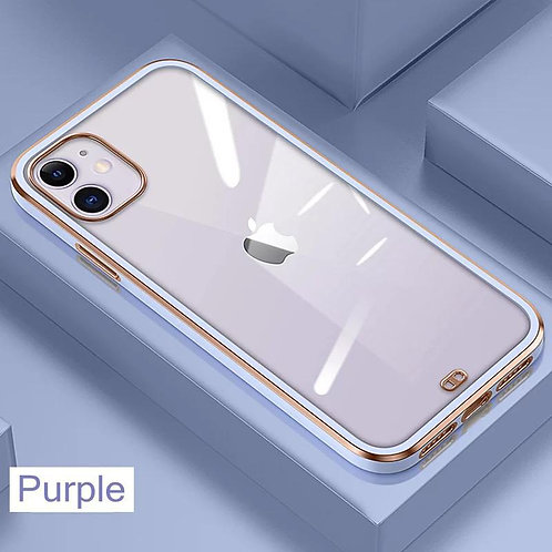 Premium Electroplated Transparent Bumper Silicone Case for Apple iPhone