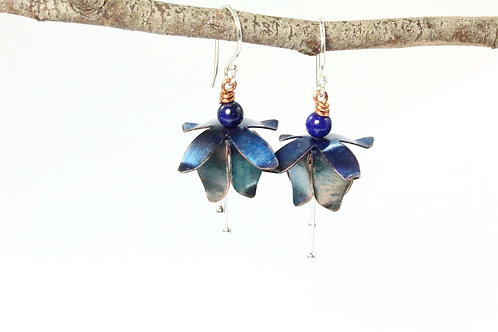 Blue Fuchsia Earrings
