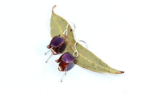 Purple Tulip Earrings