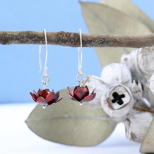 Red Lotus Earrings