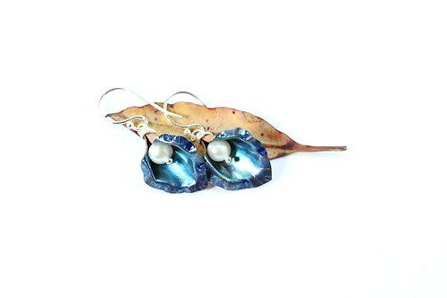 Blue Lily Earrings