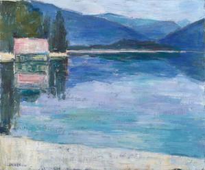 Walchensee morgens, 2018, 50x60 cm, Öl auf Leinwand
