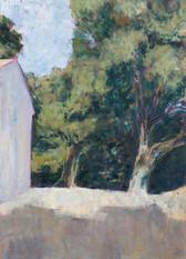 Paomia Kapelle bei Carghese, 2019, 70x50 cm, Öl auf Leinwand