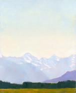 Hohe Berge, 2019, 80x65 cm, Öl auf Leinwand