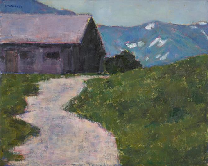 Heller Weg zu den Bergen, 2019, 40x50 cm, Öl auf Leinwand.jpg