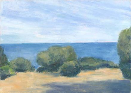 Korsische Landschaft, 2019, 50x70 cm, Öl auf Leinwand