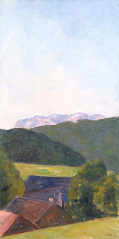 Blick über Schwarzenberg, 2019, 100x50 cm, Öl auf Leinwand