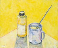 Stillleben gelb, 2018, 50x60 cm, Öl auf Leinwand