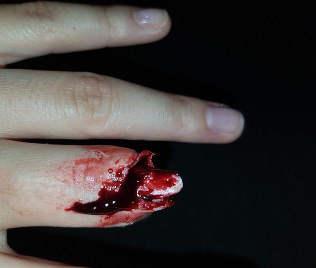 Maquillage FX doigt coupé