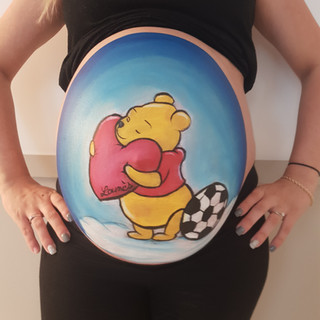 Bellypainting Winnie L'ouson