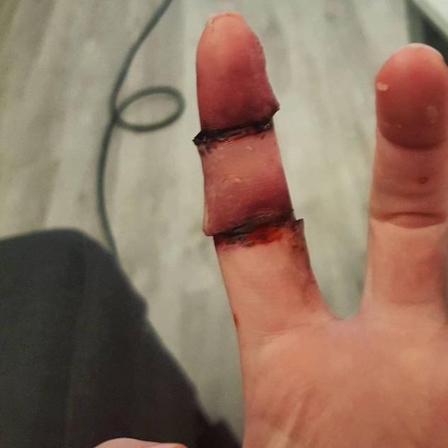 Maquillage FX doigt coupés