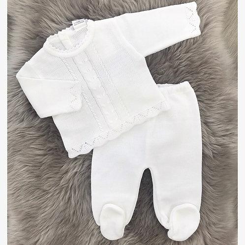 Dove White Knit