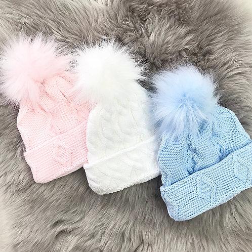 Faux Fur Pom Pom Hats