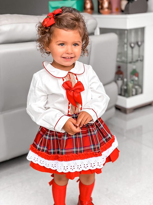 Luxury Annie Tartan Skirt&Shirt